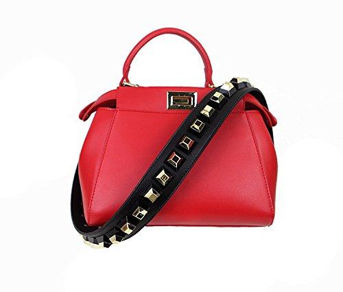 90 Diy 4cm Handle w Hand Strap Replacement I Leather 4cm l Gzhouse Rivet Width Shoulder Bag Pu Zf0Axw6pFq