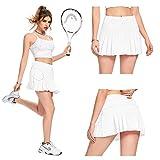 White Tennis Skirts for Women Pleated Skirt Mini