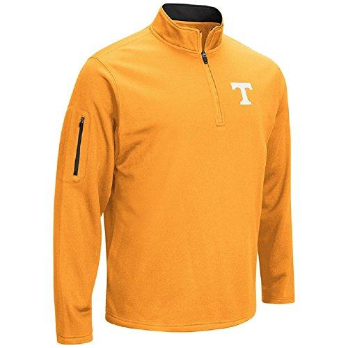 Colosseum Men's VF Poly Fleece 1/4 Zip Pullover-Tennessee Volunteers-Orange-XL