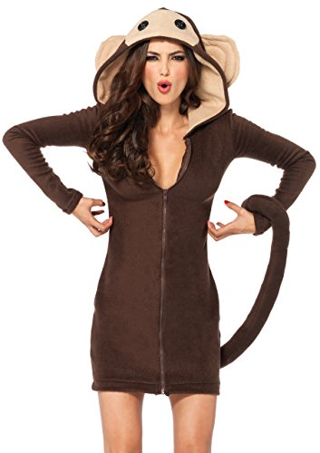 Leg Avenue Women's Cozy Monkey Costume, Brown, Medium -