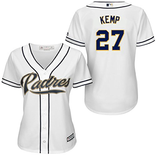 Majestic Matt Kemp San Diego Padres Home Women s Replica Cool Base Jersey  by ... fb820af10