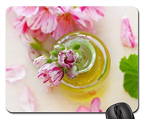 Mouse Pad - Oil Geranium Leaves Flowers Essential Oils