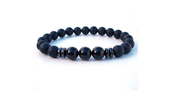 Men stone beaded Bracelet Opal,Tourmaline Black onyx,protection stone.MEN gift