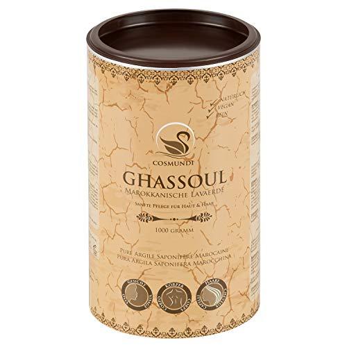 cosmundi Ghassoul Marokkanische Lavaerde Pulver 1 kg Mineralische Tonerde für Haarwäsche Körperpflege & Peeling