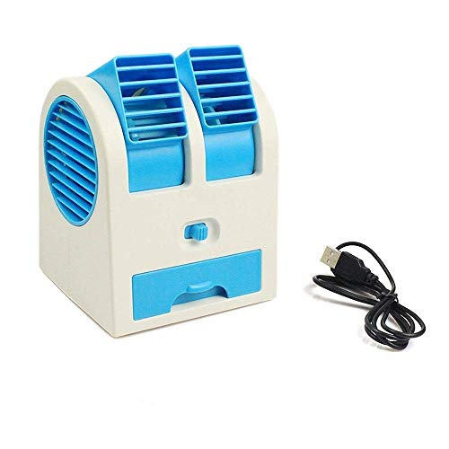 RENIL Portable Small Plastic Air Conditioner Water Cooler Mini Fan and Dual Bladeless for Use in Car/Home/Office (Multicolour)