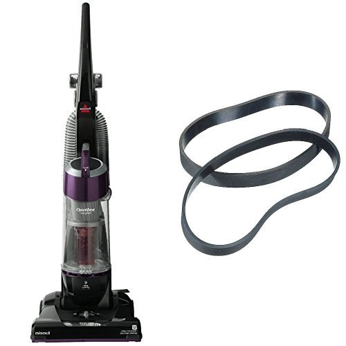Easy Maintenance Bundle - CleanView Vacuum + Bissell Style 7/9/10 Replacement Belts, 2pk (Brush Power Vacuum Belt Cleaner)