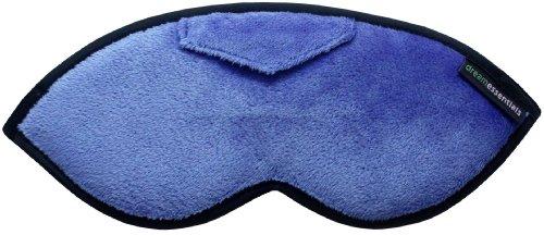 Dream Essentials Opulence Sleep Mask with Earplug Pocket and Earplugs, Plush Blue
