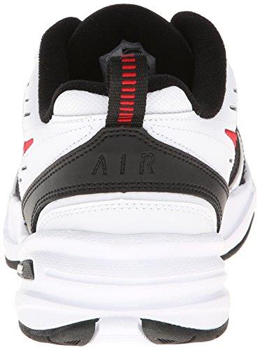 Nike Mens Air Monarch Iv Cross Trainer Bianco / Nero / Rosso Varsity