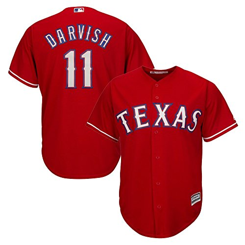 Outerstuff Yu Darvish MLB Majestic Texas Rangers Cool Base Alt Red Jersey Youth (S-XL)