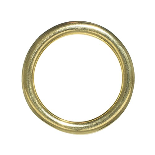 Craft County Brass O-Rings - Inside Diameter Size Options (1/2, 3/4, 1, 1 1/4, 1 1/2 or 2 inches) - Packs of 2, 5, 10, 15, 25, 50 or 100 ()