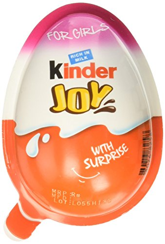 Chocolate Kinder Joy for Girls with Surprise Inside (12-Pack)]()