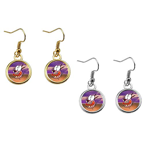 Courage the Cowardly Dog Earrings]()