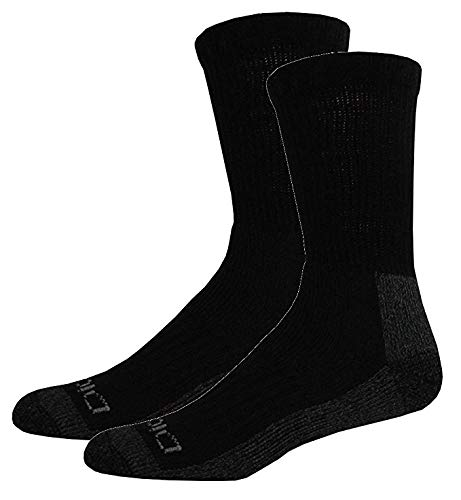Dickies Men's 2 Pack Steel Toe Crew Socks, Black/Grey, Sock Size:10-13/Shoe Size: 6-12