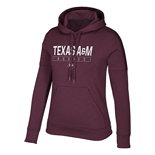 adidas NCAA Texas A&M Aggies Womens Boxed in Team Issued Fleece Pullover Hoodboxed in Team Issued Fleece Pullover Hood, Maroon, (Adidas Fleece Crew Sweatshirt)