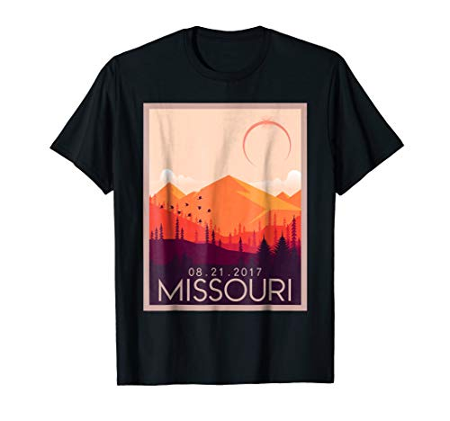 (Missouri Vintage Retro Total Solar Eclipse 2017 T-shirt)