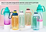 64 Oz Water Bottle with Straw, Half Gallon Water