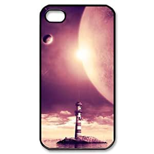 LZHCASE Diy Customized hard Case Lighthouse For Iphone 4/4s [Pattern-1]