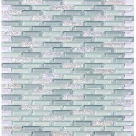 - Susan Jablon Mosaics - White and Gray Mini Subway Glass Tile Mosaic