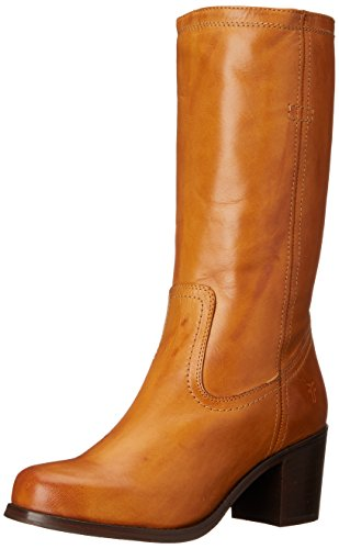 FRYE Women's Kendall Pull On-SFG Engineer Boot,  Camel, 10 M US by FRYE