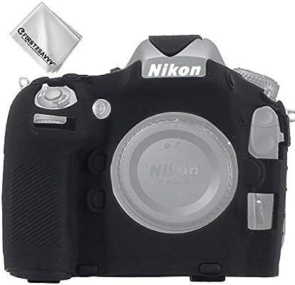 Cuerpo Completo Caucho de TPU Funda Estuche Silicona con Textura Fina para cámara para Nikon D800 D800E XJP-D800-GJWL-01: Amazon.es: Electrónica