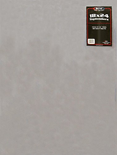 1 Poster Topload Holders - Rigid Plastic Sleeves - Bcw Brand