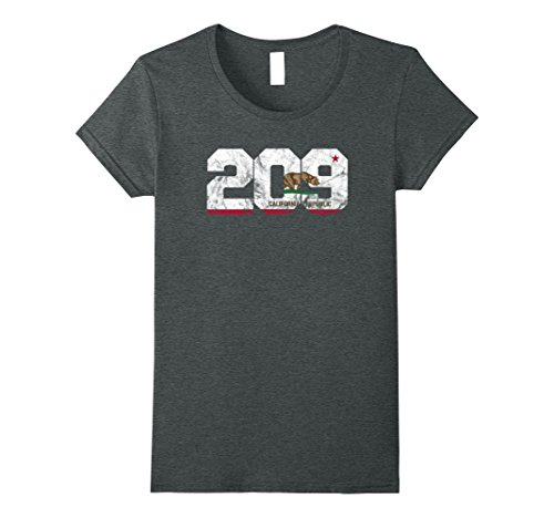 Womens Area Code 209 shirt - Modesto California t-shirt XL Dark - Modesto Women