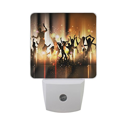 LEDVIE Crazy Dance Plug in Dusk to Dawn Light Sensor LED Night Light Wall Light for Bedroom, Baby's Kids Room,Hallway, Stairs, Energy Efficient by LEDVIE