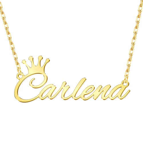 Custom4U Personalized Name Necklace Custom Made Pendant Jewelry Gift for Women ()