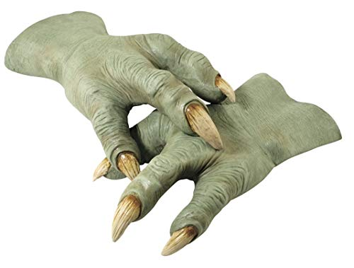 (Star Wars Revenge Of The Sith Deluxe Yoda Hands, Green, One Size)