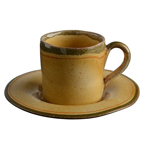 Italian Dinnerware - Espresso Cup and Saucer - Handmade in Italy from our Laccata Puro Collection