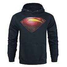 Official Superman Man Of Steel Logo Men's Hoodie