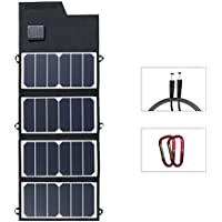 Folding Solar Panel Charger 26W ELEGEEK Foldable Solar Charger with SUNPOWER High Efficiency Solar Panel and USB + DC Output for Universal Cellphone iPad Battery Charger Car Charger Emergency