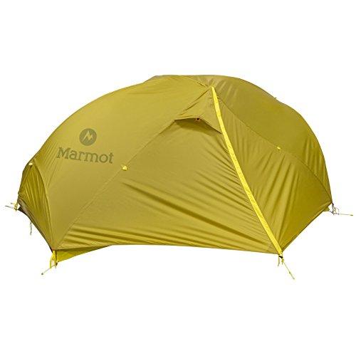 Marmot Force 2p Tent: 2 Person 3 Season (Dark Citron/Citronelle, One Size)