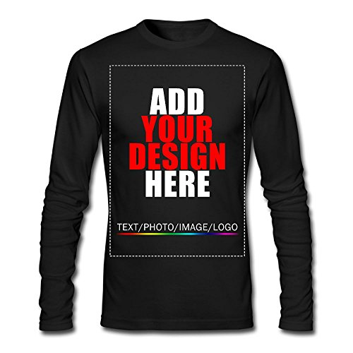 Men Custom Long Sleeve T-Shirt, Design Your Personalized Shirt, Image Photo Text