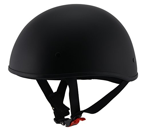 Milwaukee Performance Helmets Unisex-Adult Half Bare Bones Helmet (Matte Black, X-Small)