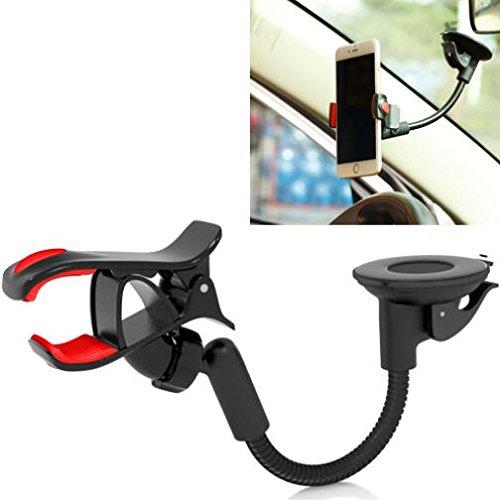 Easy Mount Premium Car Holder Windshield Dash Clipper Cradle Window Rotating Dock Strong Suction Gooseneck for