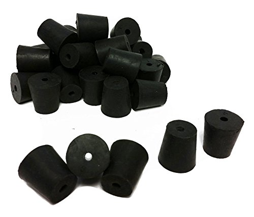 (GSC International RS-3-1 Rubber Stoppers, Size 3, Drilled 1-Hole (1-Pound Pack))