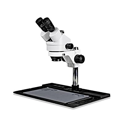 Parco Scientific PA-10F Simul-Focal Trinocular Stereo Zoom 7x-45x Microscope with Repair and Maintenance Platform for Soldering and, Cell Phone Repair