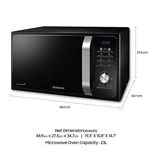 Samsung 23 L Solo Microwave Oven Ms23f301tak Tl Black