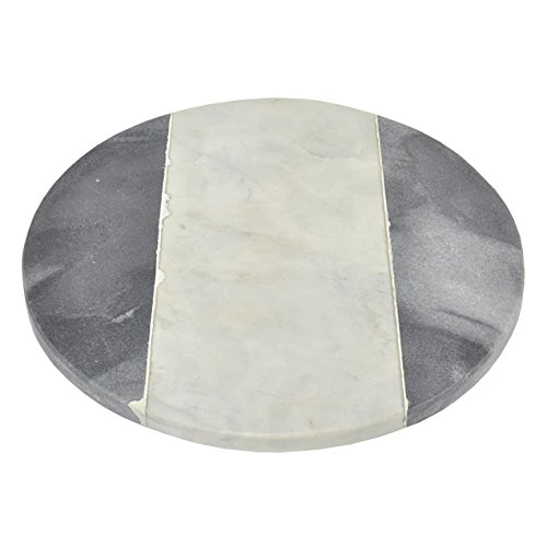 Three Hands Corporation 44389 Round Marble Cutting Board ...