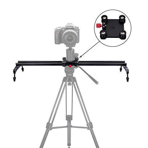 "pangshi 24"" Camera Slider Dolly Track Glider System with Roller Bearing for DSLR Video Camera"