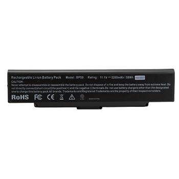 5200mAH 11.1V 6 Cell Battery for Sony VGP-BPS9 VGP-BPS10 VGP-BPS9A VGP-BPS9/B VGP-BPL9 Black