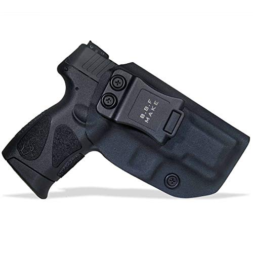 (B.B.F Make IWB KYDEX Holster Fit: Taurus G2C & Millennium G2 PT111 / PT140 | Retired Navy Owned Company | Inside Waistband | Adjustable Cant | US KYDEX Made (Black, Right Hand Draw (IWB)))