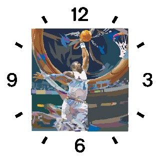 High Action Basketball Art No.1 Basketball Theme - WATCHBUDDY DELUXE TWO-TONE THEME WATCH - Arabic Numbers - Black Leather Strap-Women's Size-Small