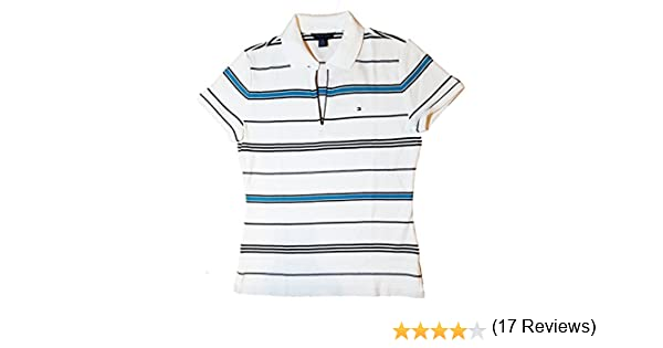 fe4f18447de Tommy Hilfiger Womens Buttonless Logo Polo Shirt at Amazon Women's Clothing  store: