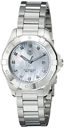 TAG Heuer Women's WAY1413.BA0920 Diamond-Accented Stainless Steel Watch with Link Bracelet (Tag Heuer Womens Diamond Watches)
