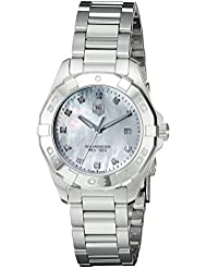TAG Heuer Womens WAY1413.BA0920 Diamond-Accented Stainless Steel Watch with Link Bracelet