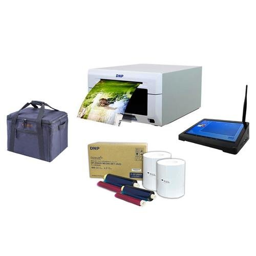 DNP DS620A Dye Sub Professional Photo Printer, - Bundle With DNP 4x6'' Dye Sub Media, WPS Pro Wireless Printer Server, Padded Printer Carrying Case by DNP