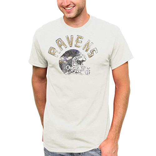 - Junk Food NFL Baltimore Ravens Kick Off Crew Tee, Sugar, Medium