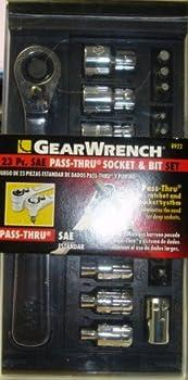 Gearwrench 8922 23 Pcs. SAE Pass-thru Socket & Bit Set.
